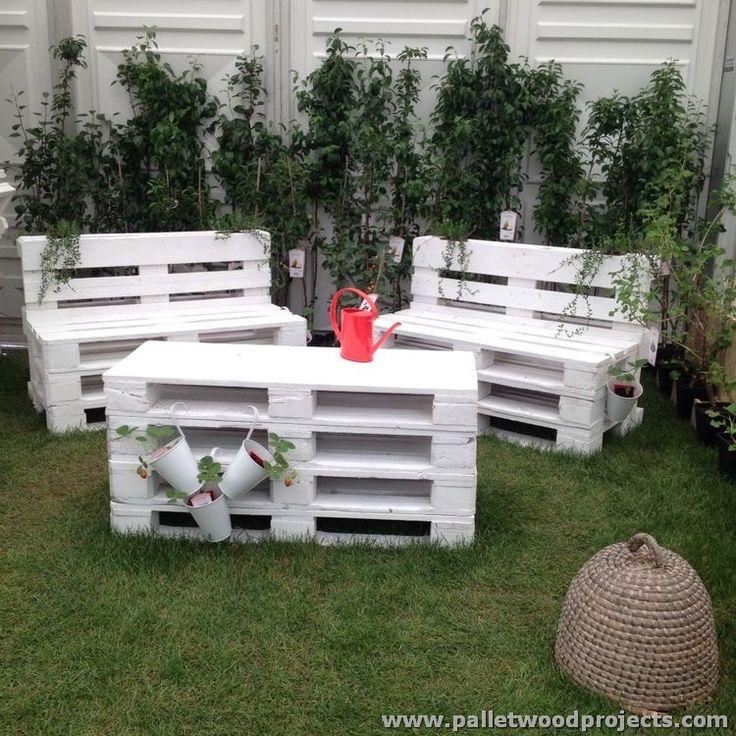 Meer dan 1000 idee n over 1001 pallets op pinterest palleten pallettafels en palletmeubilair - Pallet outdoor furniture instructions ...