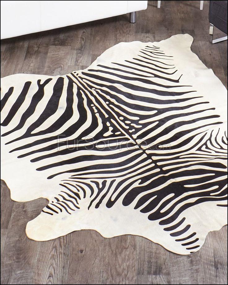 Black and White Zebra Print Rugs