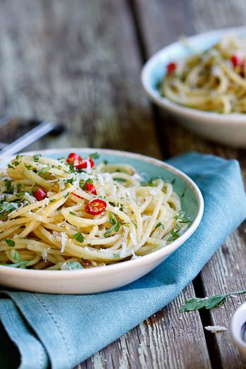 Spaghetti with Anchovies, Garlic, Lemon and Chilli...my kind of dish.