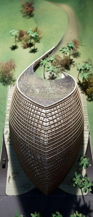 ♀ Futuristic architecture Model photo (Image courtesy of Mario Cucinella Architects)