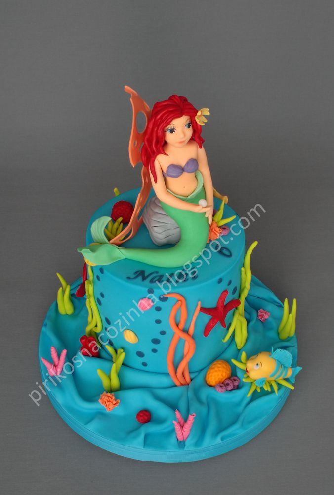 60 best images about ariel on pinterest mermaids ariel for Ariel cake decoration