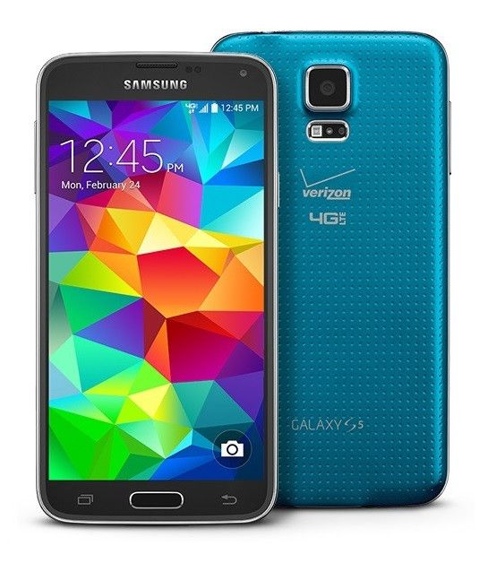"""Samsung Galaxy S5 (Verizon) SM-G900V Smartphone - Electric Blue. This phone is backed by our 14-day return policy.   The Samsung Galaxy S5 SM-G900V is an android smart phone for Verizon Wireless. With a 5.1-inch touch screen, 16-megapixel camera and 2 GB of RAM, the Galaxy S5 is a solid android mobile.  Phone Specs and Features    Network Verizon   Display 5.1"""" 1080 x 1920 pixelsSuper AMOLED Touchscreen   Inside Android 6.0Qualcomm SnapdragonQuad-core, 2500 MHz processorAdreno 330…"""