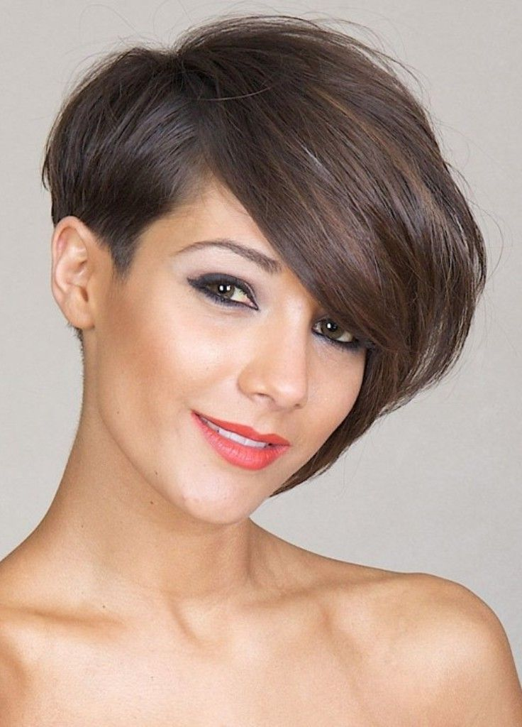 Asymmetrical Hairstyles For Round Faces Very Short Bob