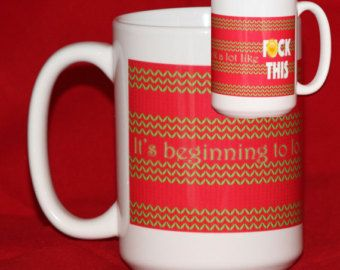 Ugly Christmas Sweater Inappropriate Christmas Mug - It's Beginning to Look A Lot Like Bleep This - Funny Coffee Mugs - Scrooge Gift