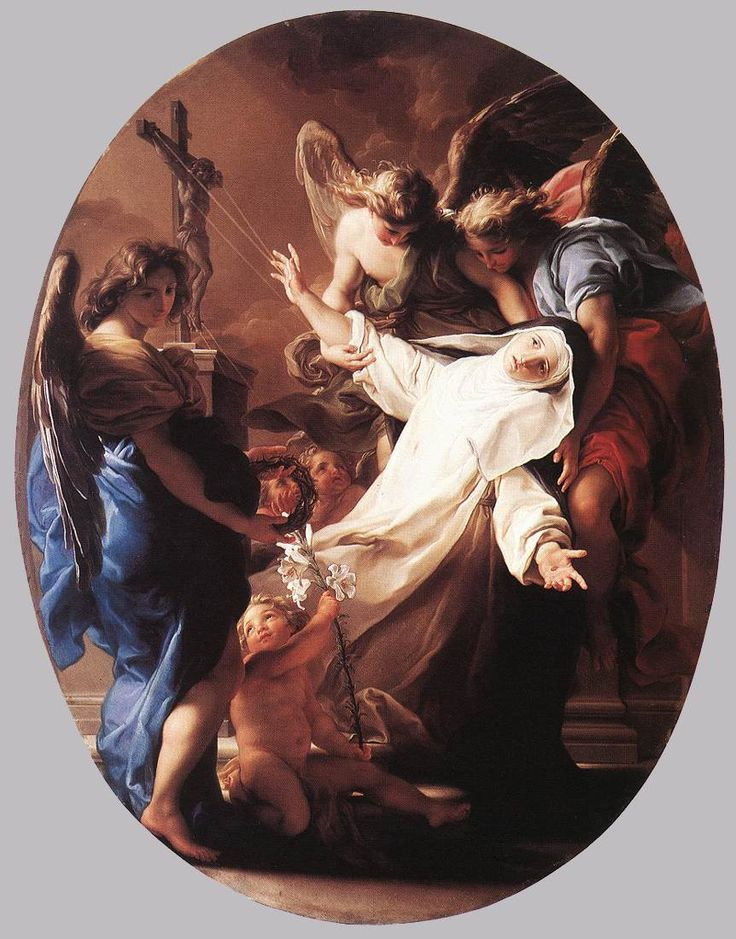 BATONI, Pompeo Italian Rococo Era (1708-1787)_The Ecstasy of St Catherine of Siena 1743