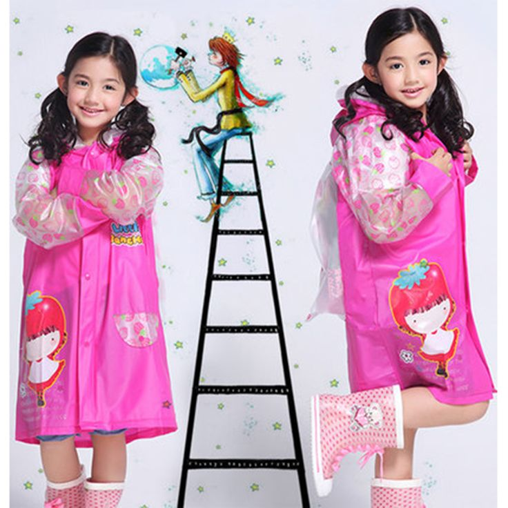 Rain Children Raincoat Poncho Rainwear For Kids Impermeables Para Lluvia Mujer Capa Wiche Layer Transparent Raincoat Boy DDGY93