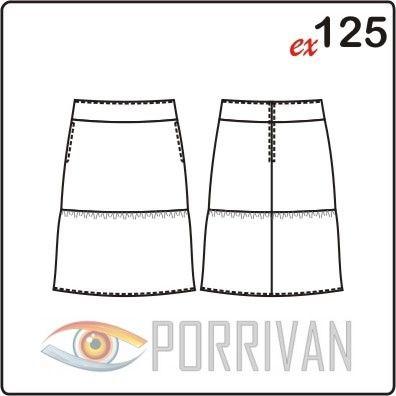 Вы можете скачать простую выкройку двухярусной юбки. Шьётся юбка просто, немного сборки по швам притачивания и отличная летняя юбка готова.