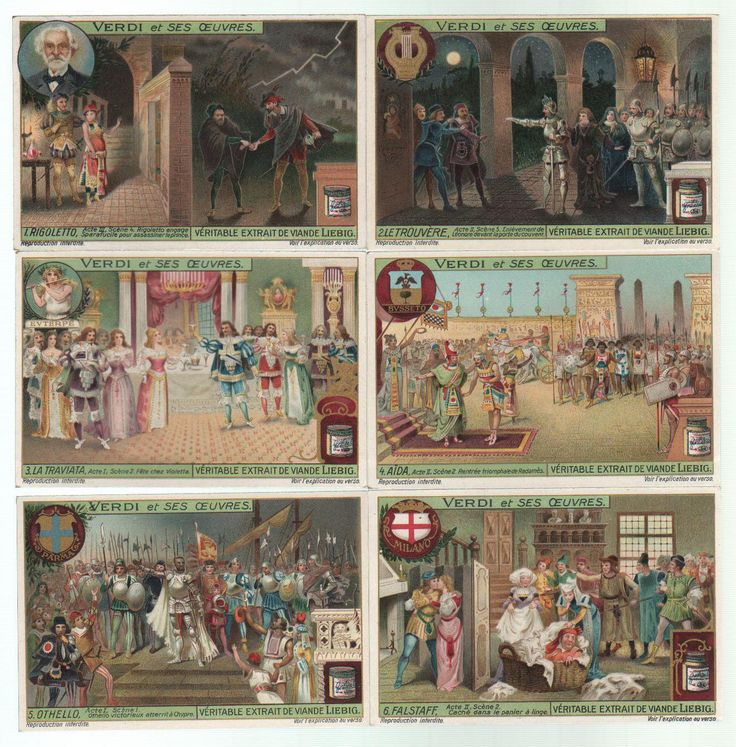 Giuseppe Verdi Oper Opern Opera Lithographie lithograph Liebig   eBay