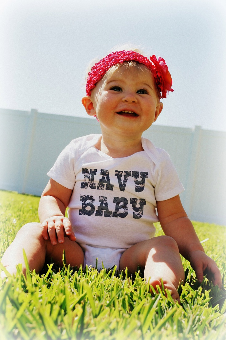 NAVY Baby Bodysuits Tees MILITARY MARINES Army by MyLucysLoft2