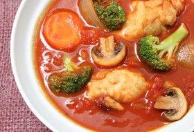鶏手羽元のトマトシチュー
