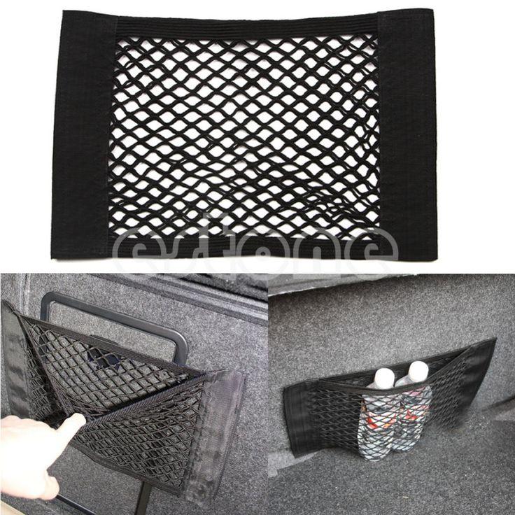 Practical Car Back Rear Trunk Seat Elastic String Net Mesh Storage Bag Pocket Cage