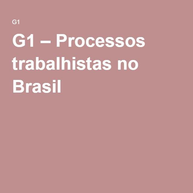 G1 – Processos trabalhistas no Brasil