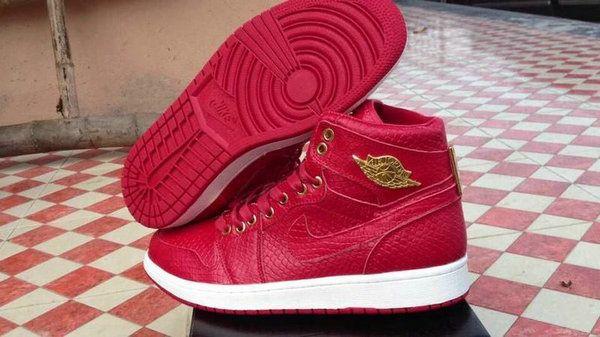 Authentic Cheap Air Jordan 1 Wholesale Jordan 1 Retro Red Croc-Skin Sneaker