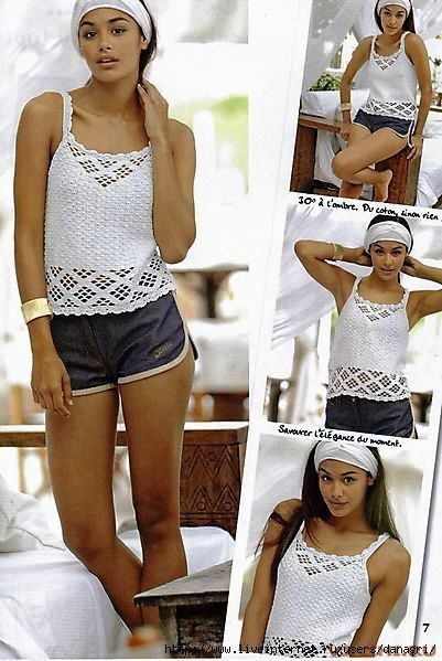 Summer crochet Top with charts