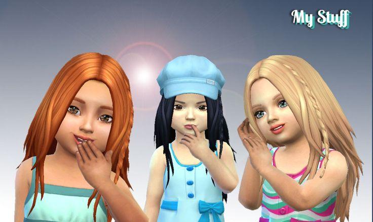 Симс 4 прически стильная прическа - это залог шикарного образа персонажа.