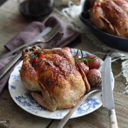 Cranberry Apple Stuffed Cornish Hen