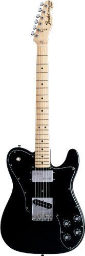 Fender Classic Series '72 Telecaster® Custom Electric Guitar, Black, Maple Fretboard -   With a single-coil Tele bridge pickup and a Fender Wide Range humbucking neck pickup, this model offers enough bark, snarl, and bite to hang in any setting. This models amp knobs, bullet truss-rod nut, F tuners, and 3-Bolt neck-plate (with... - http://guitarsandmusicstore.com/fender-classic-series-72-telecaster-custom-electric-guitar-black