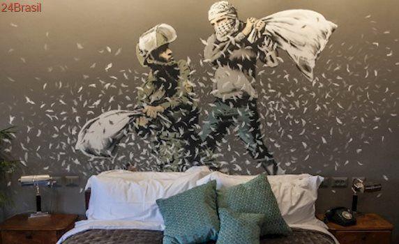 """Protesto contra muro: Hotel na Cisjordânia ostenta ter """"a pior vista do mundo"""""""
