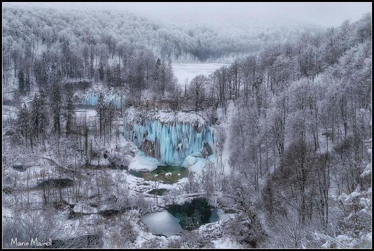Mesevilággá dermedt Horvátországban a Plitvicei-tavak vidéke   Zacc - minden, ami már leülepedett bennem...
