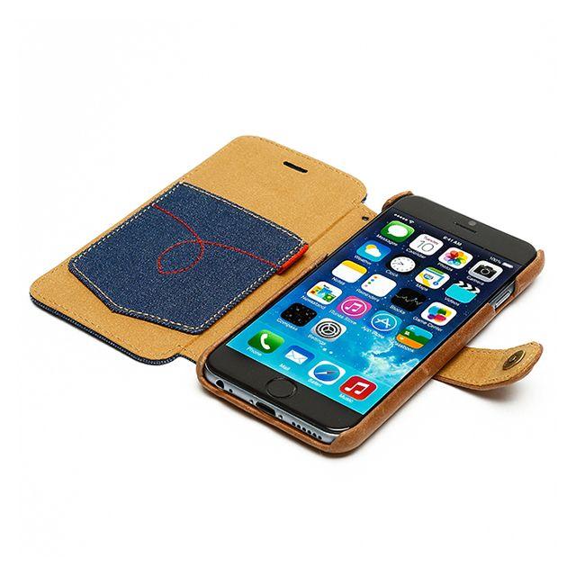 【【iPhone6 ケース】 Denim Vintage Pocket Diary】<機能的なハードフレーム> 使用しているハードフレームはポリカ…