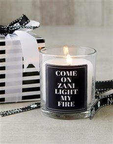 gifts: Personalised Light My Fire Candle!