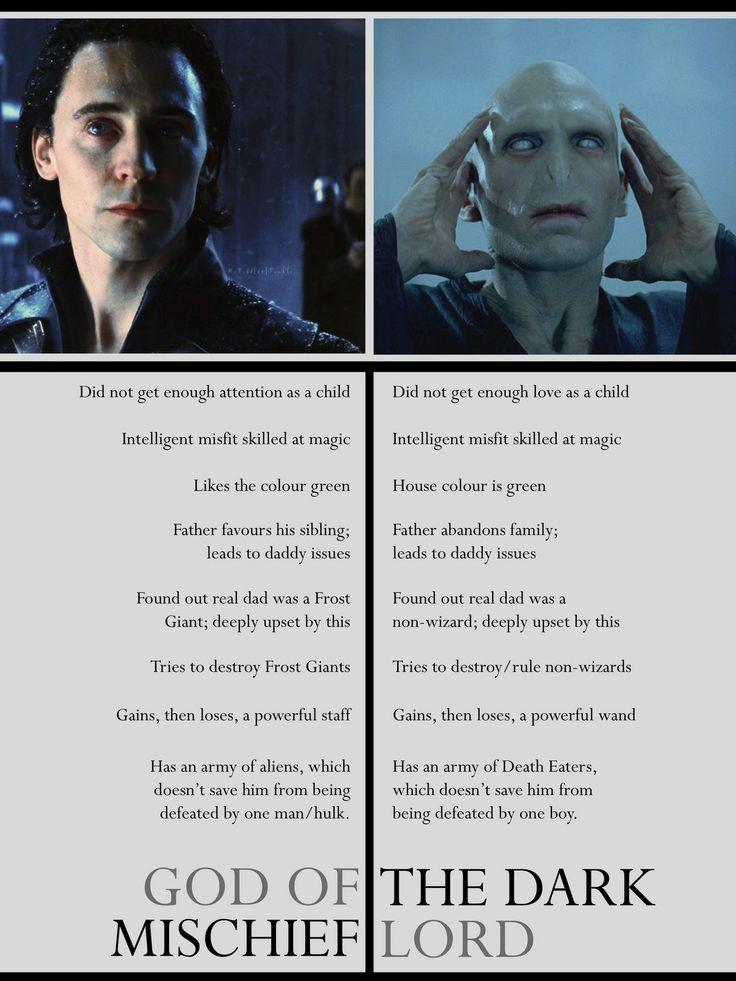 Interesting. Loki vs. Voldemort. o-o
