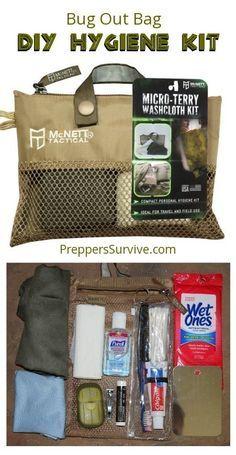 3 DIY Hygiene Kits including one for your bug out bag. #Prepper #Hygiene