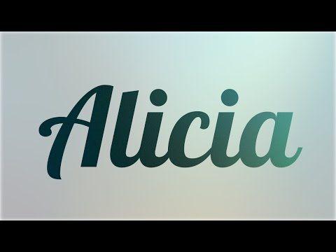 Significado de Alicia, nombre Español para tu bebe niño o niña (origen y personalidad) - YouTube