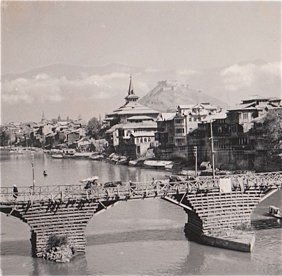 Third Bridge � Fateh Kadal, Srinagar July 1944
