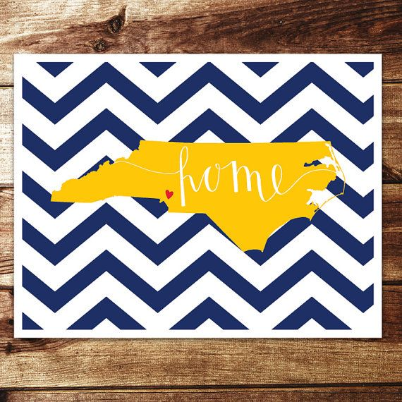 North Carolina Home Print Charlotte