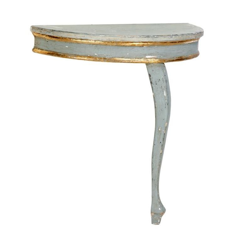 Buy Italian Single Leg Demilune  by Original Elements Co. - Made-to-Order designer Furniture from Dering Hall's collection of Traditional Console Tables.