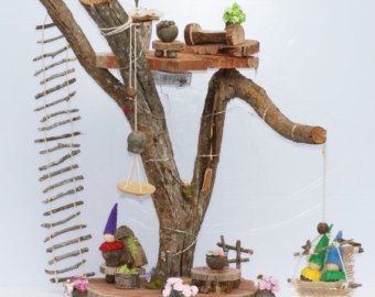 Handmade Wooden Tree house 3 by Treeativity on Etsy