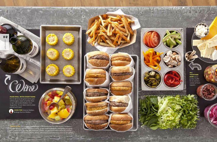 Great idea for a burger bar! - found in Publix Grape magazine.