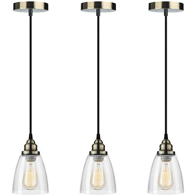 Pendant Light 3 Pack Farmhouse Edison Hanging Lights Height