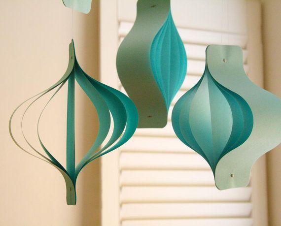 Paper Raindrops art deco curvy paper by NikkiCrossApplesauce
