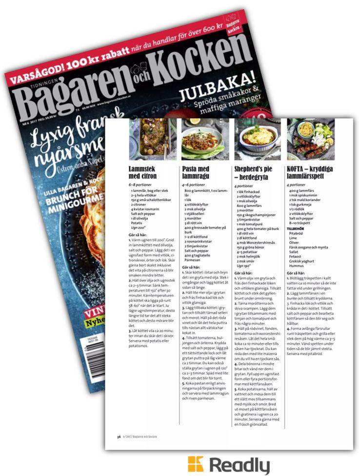 Tips om Bagaren och Kocken 2 november 2017 sidan 36