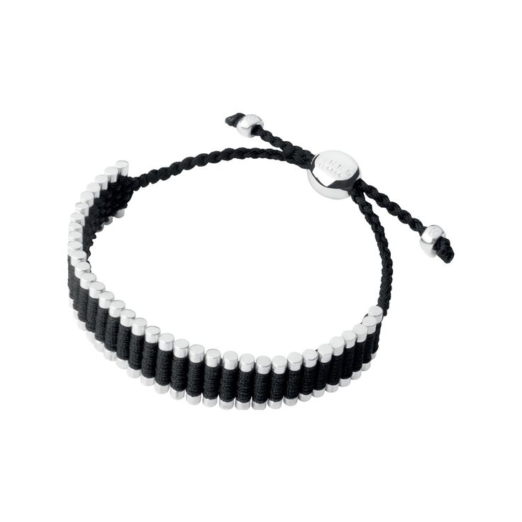 Sterling Silver & Black Cord Friendship Bracelet from Links of London | Bracelets for women