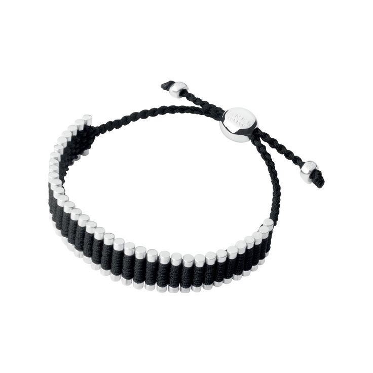 Sterling Silver & Black Cord Friendship Bracelet from Links of London | Bracelets for women