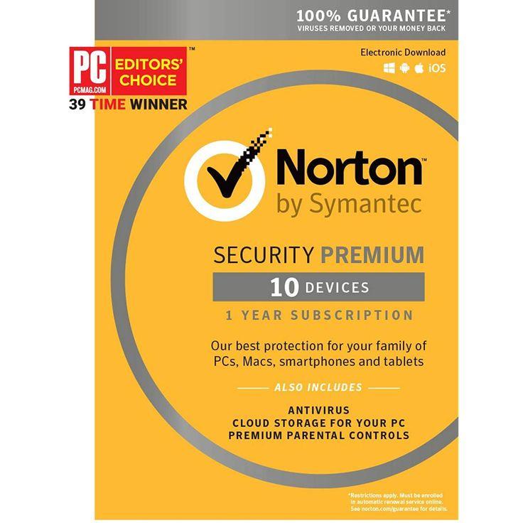 Norton security premium 10 device key card software