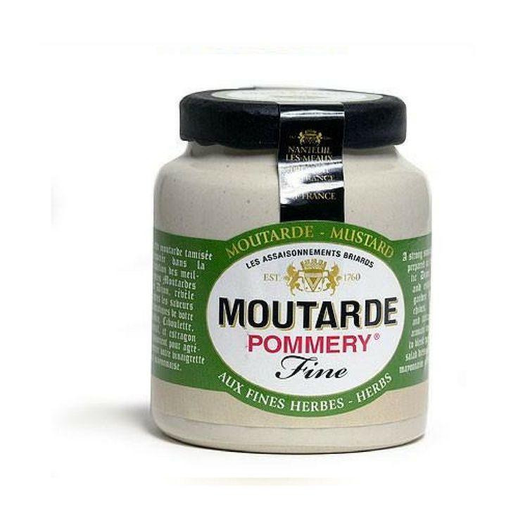 Pommery · Mustard w/ fine herbs · 100g (3.5 oz)  #TOPCHEFS #FrenchFood #LeTablierbleu #FrenchCuisine