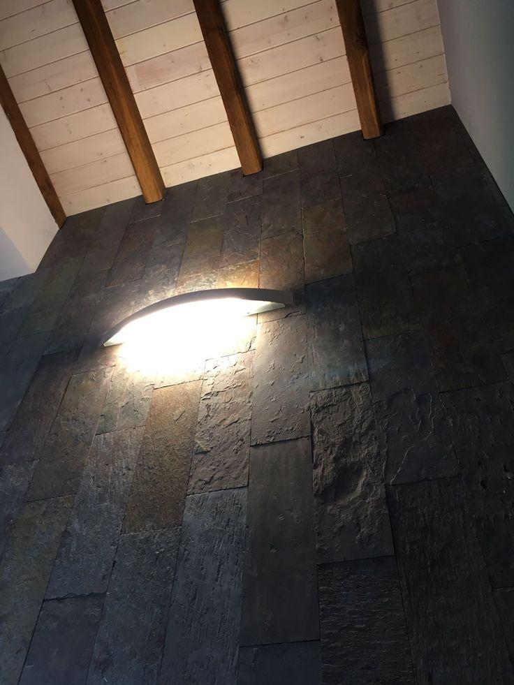 rivestimento parete in ardesia ferrugo - www.pulchria.it