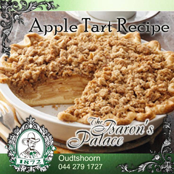 Apple tart recipe. This dessert can be prepared in a potjie. Click here to read more: http://besociable.link/ig #Recipe #appletart