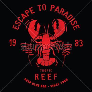 Lobster Illustration Vector Design,lobster Vector T Shirt T Shirt Printing stock…