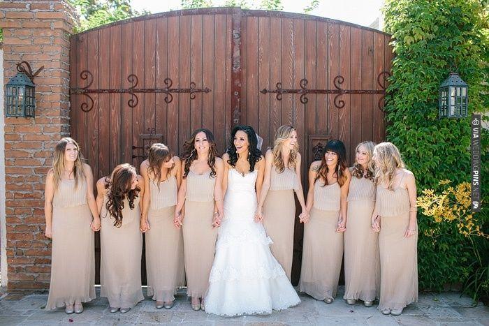 nude bridesmaids...not literally, that would be weird. | CHECK OUT MORE IDEAS AT WEDDINGPINS.NET | #weddings #weddinginspiration #inspirational