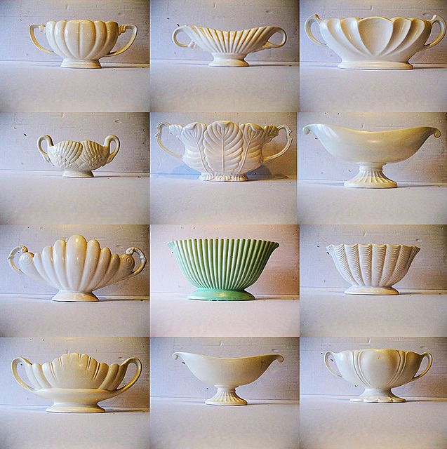 Constance Spry via The Curious Eye, I think these are gravy boats but then again they may just be vases. Doesn't matter they are cool. #inspiration #form