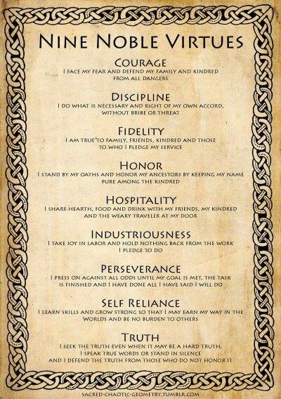 9 noble virtues