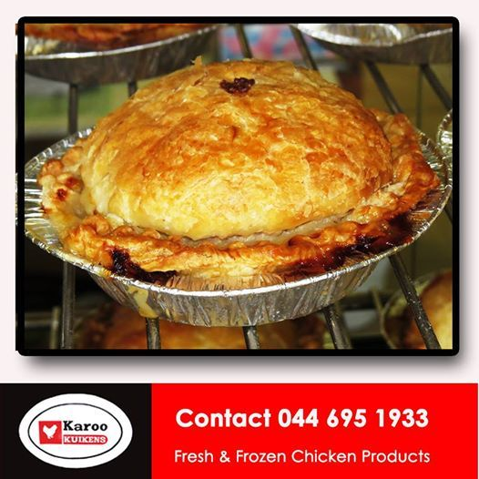 They say the proof of the pudding is in the eating! Karoo Kuikens bakes our own Chicken pies, made from the products we sell. Tasty and fresh is the only way for us. #chickenpies #lightsnacks #chickenproducts