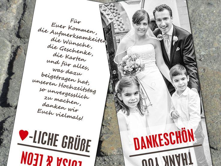 Dankeskarte+Hochzeit++von+[ze│ka!]+auf+DaWanda.com