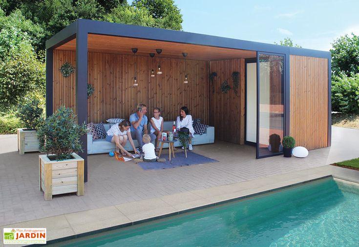 Pool House Abri Jardin En Aluminium Bois Traite Et Verre Maluwi 20 M Abri De Jardin Moderne Abri De Jardin Maison Piscine Moderne