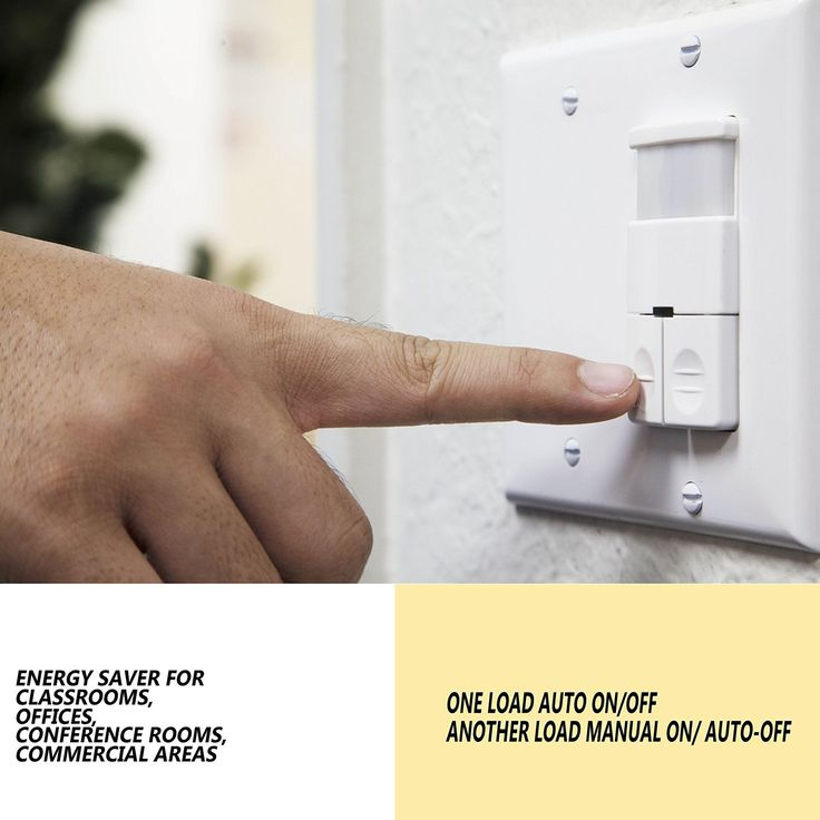 Enerlites DWOS-JD Dual Relay Occupancy Sensor Switch, Bi-Level, PIR Passive Infrared, NO NEUTRAL WIRE REQUIRED, White - - Amazon.com